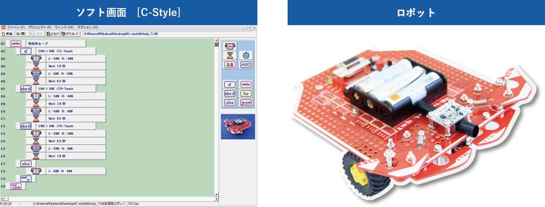 ソフト画面C-Style、ロボット